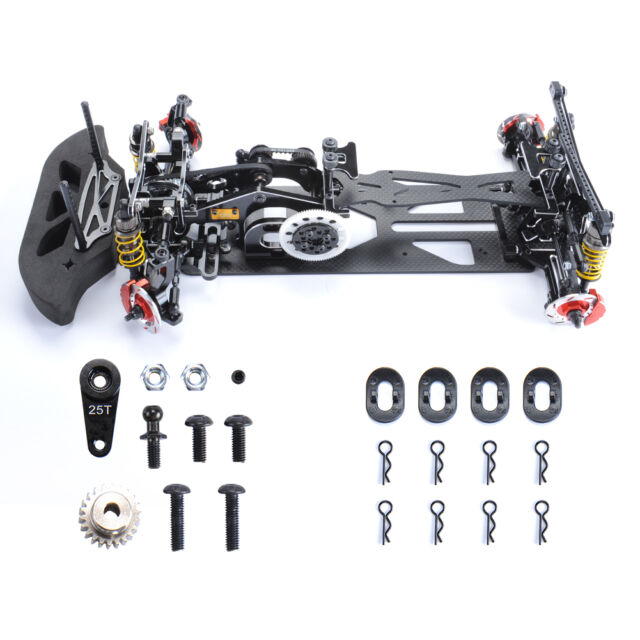 1/10 Drift RC Racing Model Car Frame Chassis Kit Alloy & Carbon ...