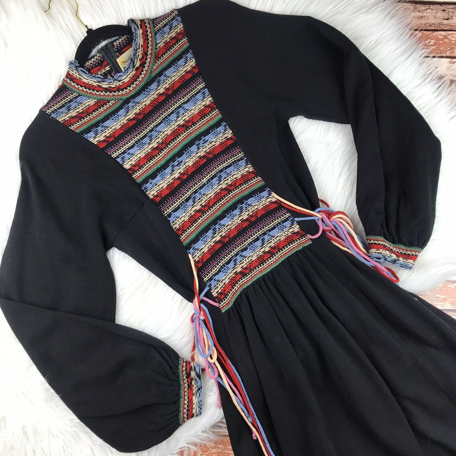 Vintage 1970s Roncelli Embroidered Peasant Dress … - image 2