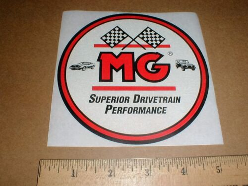 MG Drivetrain High-Perf vintage original Sticker Decal 1980s Jeep 4x4 /& corvette