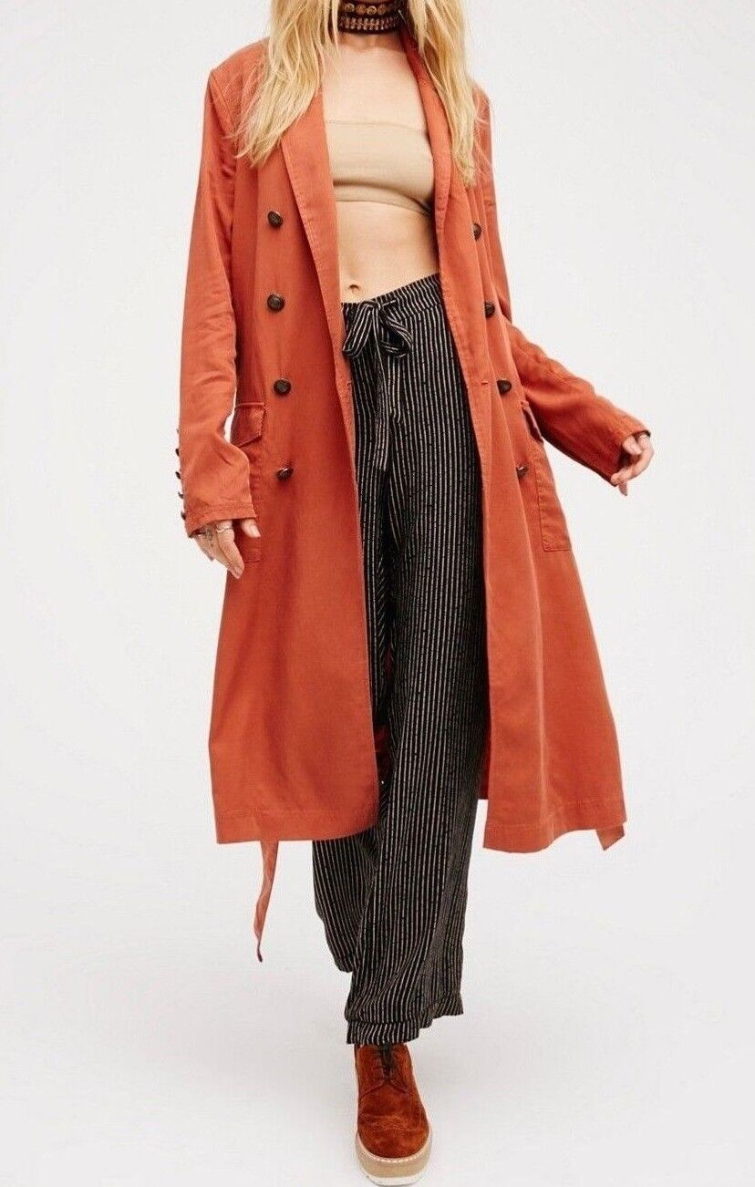 FREE PEOPLE Sensual Military Lightweight Duster  ☮ Size SMALL
