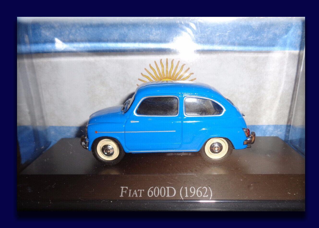 Fiat 600D (1962) - Inolvidable Coches 1 43 Diecast   4 Salvat plataina