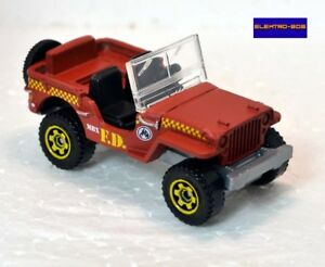Matchbox-Willys-Jeep-FD-Fire-Exclusive-set-car-colour-New-Mint-VHTF