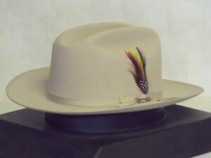 91665e95c8a99 Image is loading STETSON-CLASSIC-20X-SILVERBELLY-OPEN-ROAD-WESTERN-HAT