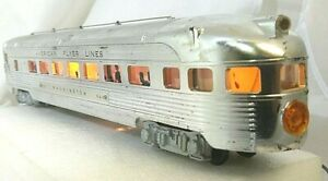 Original-Chrome-Finish-American-Flyer-No-963-Washington-Observation-Car