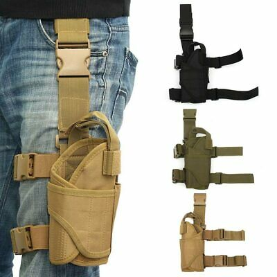 New Tactical Wrap-around Thigh Leg Pistol Gun Holster Pouch Waterproof Adjustabl