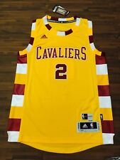 brand new 5d265 378dd Kyrie Irving Signed Cleveland Cavaliers Yellow Alternate ...