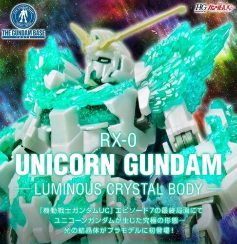 HG 1/144 Gundam Base Limited Unicorn Gundam (Crystal of Light) Gunpla  F/S