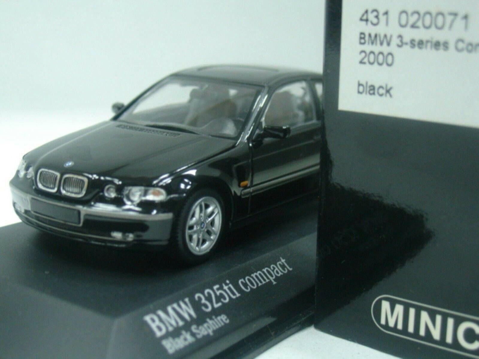 Wow extrêmement rare BMW E46 325ti Compact 2.5 L 24 V 2000 Noir 1 43 Minichamps-GTR