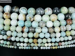Natural-Colorful-Amazonite-Gemstone-Round-Beads-16-039-039-4mm-6mm-8mm-10mm-12mm-14mm