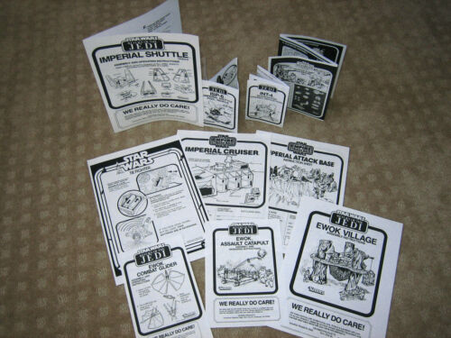 MANY TO CHOOSE FROM STAR WARS VINTAGE REPLACEMENT INSTRUCTION SHEET