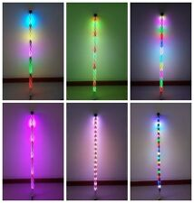 Pair of 4FT Dream Color Spiral Whip Lights Chasing 130 patterns *Remote ATV JEEP