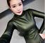 Womens-Vogue-Slim-Warm-PU-Leather-Tops-Casual-Turtleneck-Blouse-Plus-Shirt-New thumbnail 16