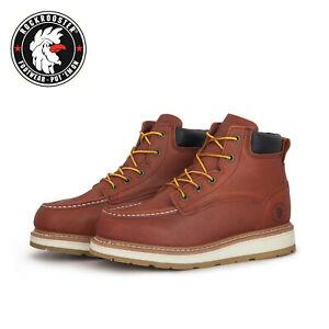 ROCKROOSTER-Men-039-s-Work-Safety-Boots-Soft-Toe-Lace-up-Slip-Resistant-Comfort-EH
