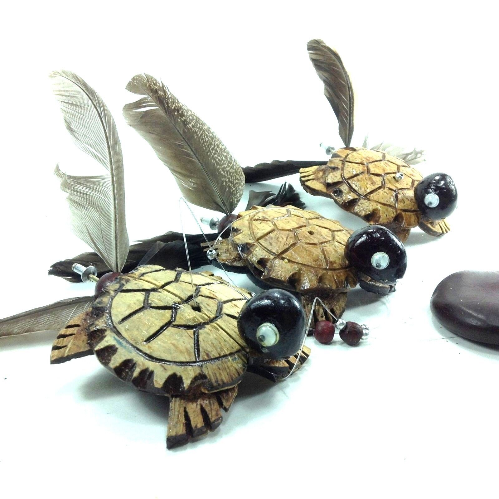 Hanging wind spinner patio wooden animal statue chime homedecor souvenir Turtle
