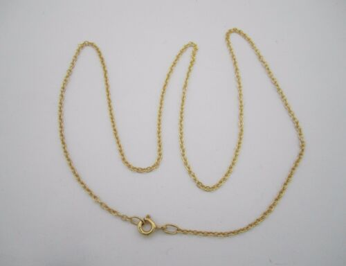 Hallmarked 18K Gold Plated Over 925 Silver Trace Chain Approx 17 Inch Long