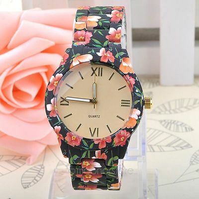 Femmes dames concepteur fleur Artificial Ceramic Quartz Wrist Montres HOT SELL