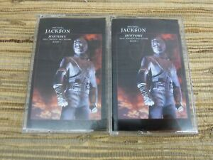Cassette Tape Lot MICHAEL JACKSON History Book 1 Past Present and Future Best Of