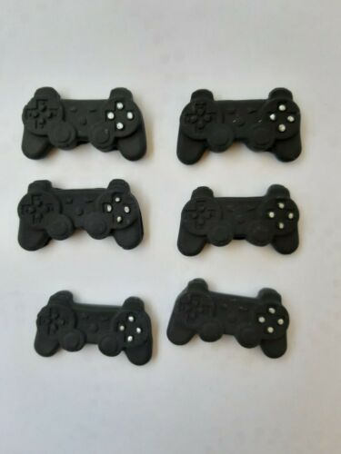 6 cupcake  size PlayStation Controllers Edible Toppers