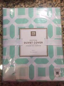 Pottery Barn Teen Peyton Duvet Cover Twin Pool Brand