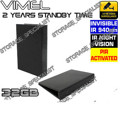 Wireless Security Camera Book Home House Office Night Vision Cam No SPY hidden