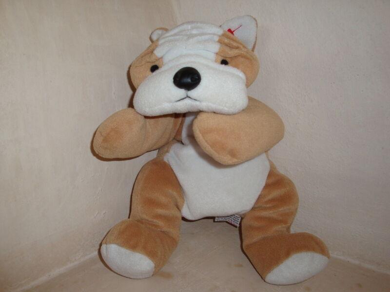 TY Pillow Pal - 1996 Soft BRUISER the DOG Stuffed Animal - RETIRED