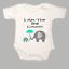 I Am The Big Cousin Elephants Baby Grow Gro BodySuit Body Suit Vest Blue Gift