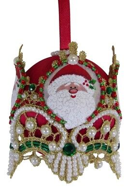 "SATIN BEADED CHRISTMAS ORNAMENT KIT /""GLORIA!/"""