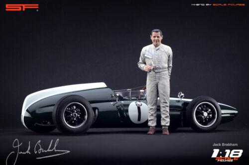 for diecast collectors 1:18 Jack Brabham figurine VERY RARE !! NO CARS !