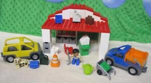 Wonderlijk RARE 2005 LEGO Duplo #9237 GARAGE car/truck mechanic dog tools XK-37