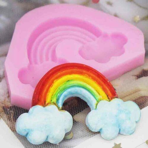 Rainbow Cloud fondant gâteau Moule en silicone Sugarcraft chocolat cuisson moule outil
