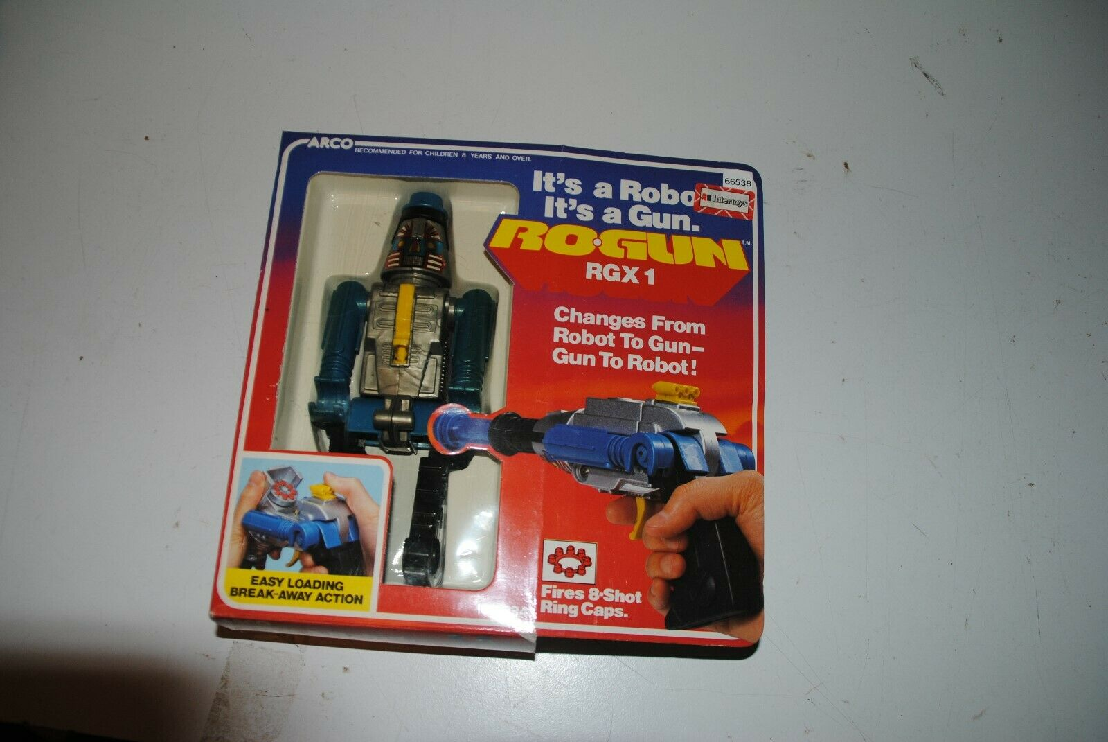 ARCO  GOBOTS 1984  RoGun RGXV1 Robot to Rifle nuovo in scatola