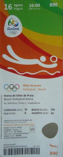 Deutschland # B90 mint TICKET 16.8.2016 Rio Beachvolleyball Women/'s Brasilien