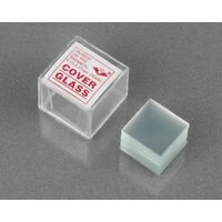 100pc Pre-cleaned Microscope Glass Cover Slides Coverslips 18mmx18mm Square on sale
