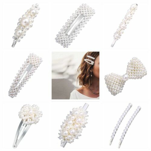 Pearl Flower 1Pcs Hair Clip Hairband Comb Bobby Pin Barrette Hairpin Headdress