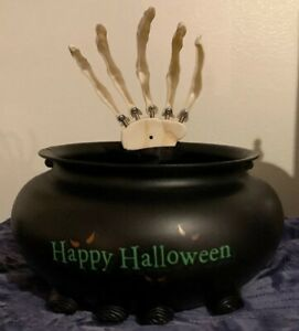 Skull Halloween Candy Bowl with sound/movement Motion ...