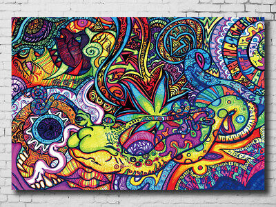 K-918 Abstract Paintings Art Psychedelic Fabric Poster 20x30 24x36