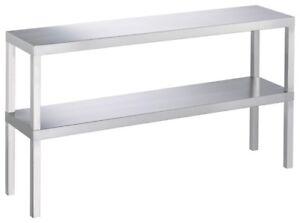 Edelstahl-Aufsatzbord-Aufsatz-Regal-mit-2-Boeden-800-x-300-x-650-mm