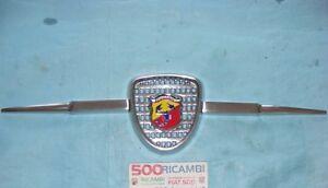 FIAT-500-F-L-R-amp-600-MASCHERINA-ABARTH-SPORTIVA-GRIGLIA-ANTERIORE-ALLUMINIO-3-PZ