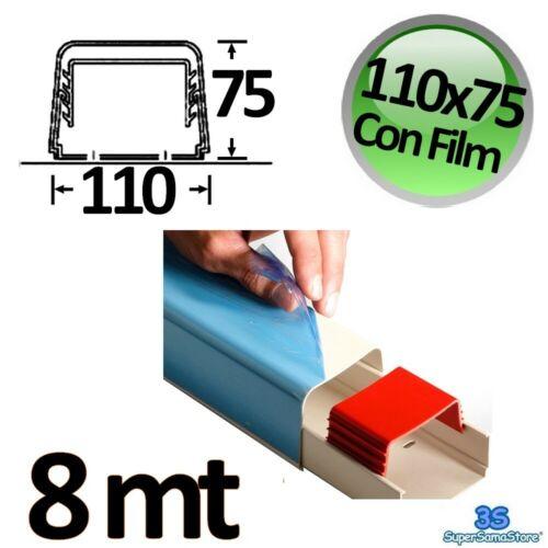 3S 8 mt CANALINA 110x75 CON FILM PROTETTIVO CLIMATIZZATORE CONDIZIONATORE