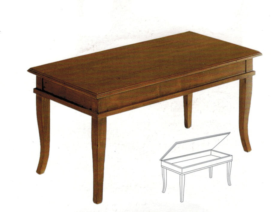 Tavolino Tavolino Tavolino a bacheca 1585 rettangolare arte povera cm 100x50x45H 7ac405