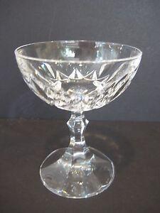 Cut-Crystal-Glass-Champagne-Short-Stemware-Elegant-4-6-8-034-Tall-X-3-7-8-034-Dia