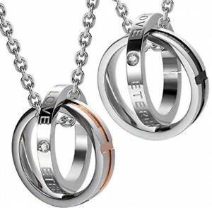 His And Hers Couples Necklaces Endless Love Eternal Love ...
