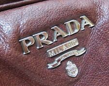 PRADA Bag Natural Leather Handbag -100% Authentic