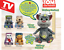 Official-Talking-Tom-Ben-Ginger-Angela-Plush-Talkback-Animated-Soft-Cuddly-Toy thumbnail 1