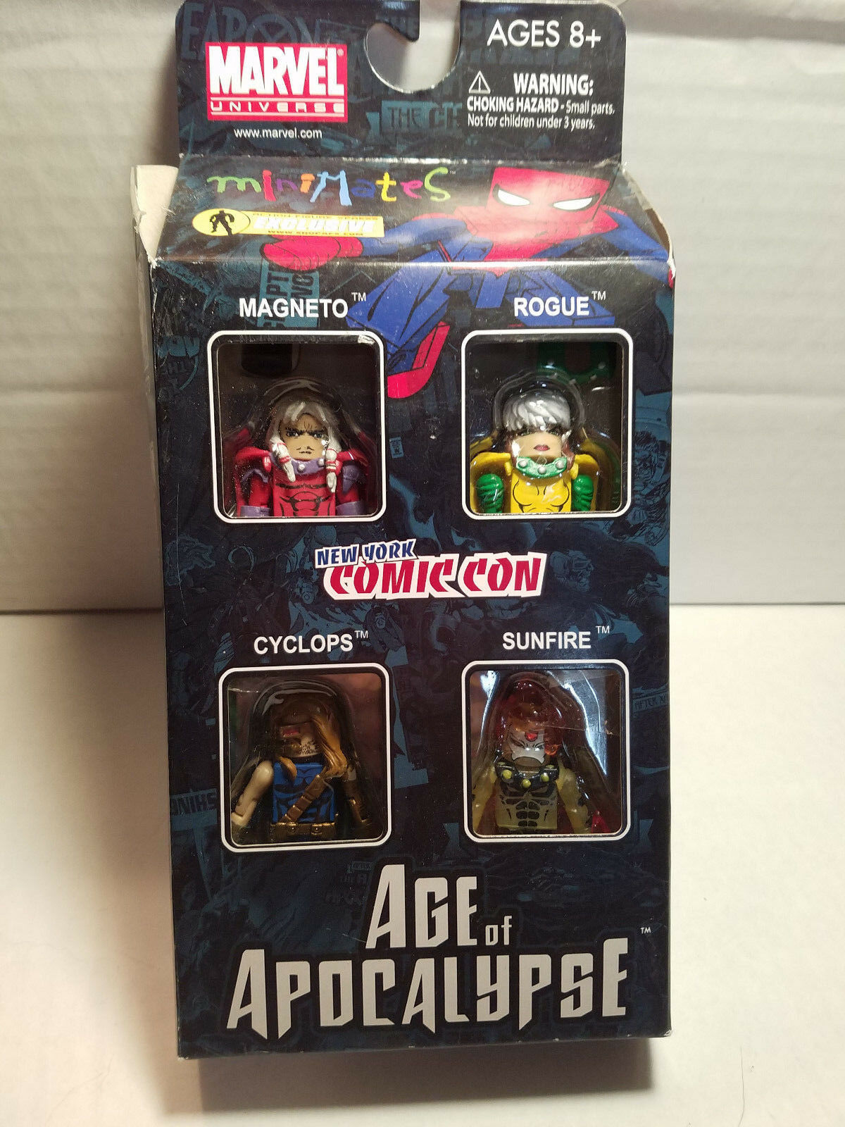 Age 0f Apocalypse 4 Figure Minimates Box Set NYCC Set X-men