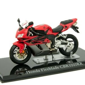 Honda Fireblade Cb1000rr Red Atlas Editions 1 24 Scale Motorcycle