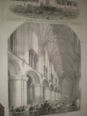 Art Grand Music Festival Hereford Cathedral 1852 Print Ref Av Drip-Dry