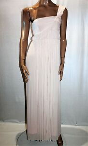 TEMT-Brand-Beige-Chiffon-One-Shoulder-Glam-Party-Dress-Size-M-BNWT-TL54
