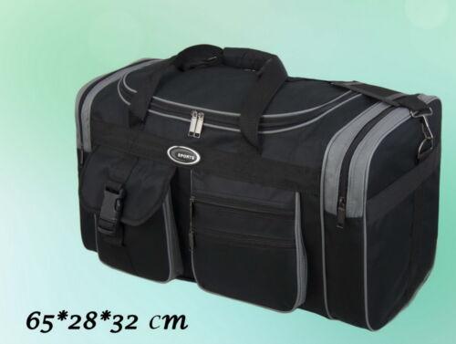 32 cm Herren Tasche Reisetasche Sporttasche Schwarz Grau 65 28