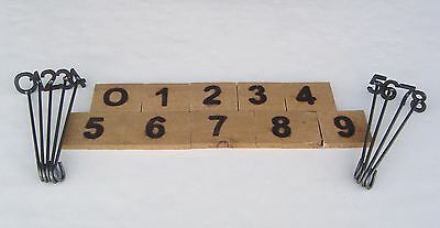 """Branding Irons Numbers """"0"""" through """"9"""" steak, crafts, wood or leather"""